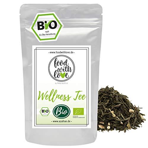 Azafran BIO Wellness Tee Kräutertee Mischung Grüner Tee mit Lemon Eistee 250g