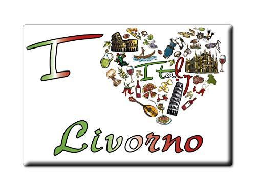 Enjoymagnets Livorno CALAMITA Magnete Toscana (LI) Italia Fridge Magnet Souvenir I Love (VAR. Symbol)