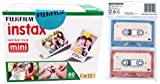 Fujifilm Instax Mini Picture Format Film - Value Pack 60 Shots Films (White) with Transparent Stands