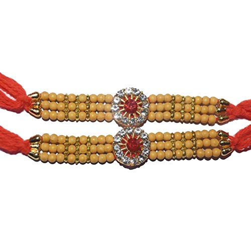 WhopperIndia Set of 2 Turtle Design Hindu Traditional Rakshabandhan Rakhee Bracelet Color and Design May Vary