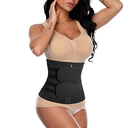 SHAPERIN Neopren Waist Trainer Korsett Bauch Weg corsette Damen schweißgürtel Body Shaper Bauchgürtel mit abnehmbare Belt für Abnehmen Fitness Slimming Belt für Sport Fettverbrennung(R,XS)