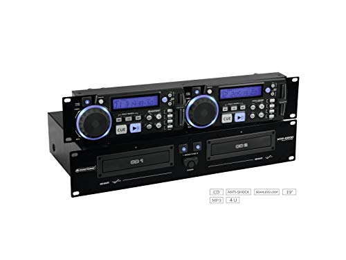 OMNITRONIC XCP-2800 Dual-CD-Player | 2 x 40 Sekunden Anti-Shock-Puffer | Nahtlose Loop/Reloop-Funktion