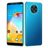 Smartphone Desbloqueado, M30 PLUS 5.8in 16MP+4GB HD Pantalla Teléfono Tarjeta Dual Doble Modo Espera USB Desbloqueo Huellas Dactilares Teléfono Móvil Wifi/Grabador Video/GPRS Teléfono Celular Android
