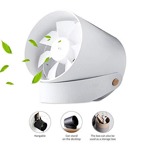OOOUSE USB-Mini-Ventilator, hängend und stehbar, Metallventilator, 2 Geschwindigkeiten, leiser Touch-Schalter, USB-betriebener Ventilator, für Zuhause, Büro, Wohnheim