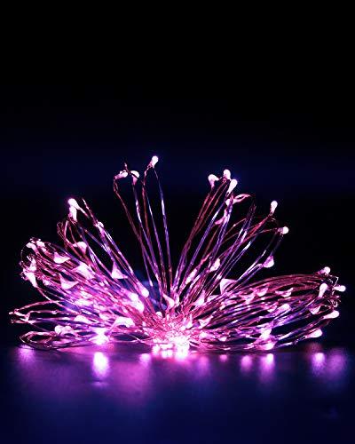Litogo Guirnalda Luces Pilas, Luces LED Pilas, Luces LED Habitacion 5m 50...