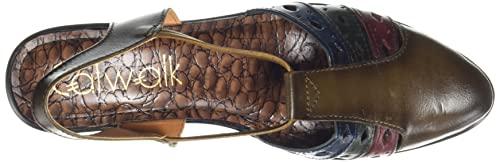 Catwalk Women's Leather Laser Cut Bellies Slide Sandal