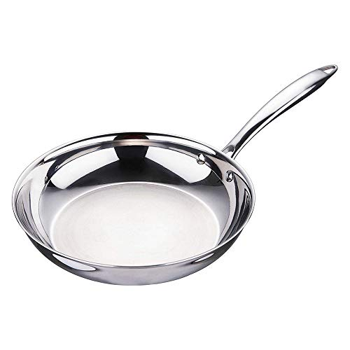 Bergner Argent Triply Stainless Steel Frypan, 20 cm, Induction Base, Silver