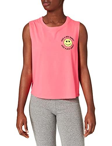 Zumba Dance Atlético Estampado Fitness Camiseta Mujer Sueltas de Entrenamiento Top Deportivo Tank Tops, Pink Vibes, X-Large Womens