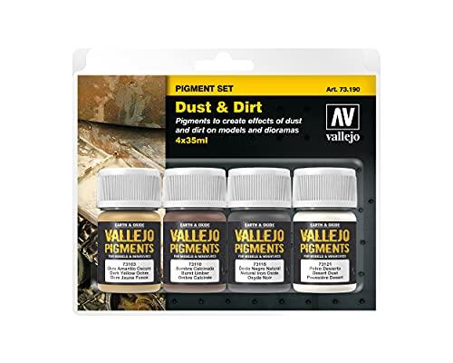 Vallejo - Set di pigmenti per polvere e sporco, 4 x 35 ml