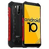 Android 10, Octa-Core, 64Go+4Go, Telephone Portable Incassable, Ulefone Armor X5 Pro Smartphone Débloqué Pas Cher 4G 5000mAh, 5.5 Pouces, 13MP+5MP Dual SIM NFC Face ID E-Boussole GPS, Antichoc Étanche