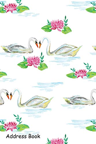 Address Book: For Contacts, Addresses, Phone, Email, Note,Emergency Contacts,Alphabetical Index With Ducks In Pond Watercolor