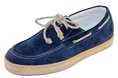 Armani Jeans Schuhe Shoe Herrenschuhe Mokassins V6594 blau Gr.40