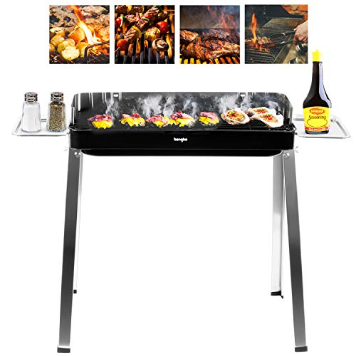 Charcoal Grill Kabab Grills Portable BBQ Stainless Steel Folding Camping Grill Large Hibachi Grill Shish Kabob Portable Camping Cooking for Travel Grill Outdoor