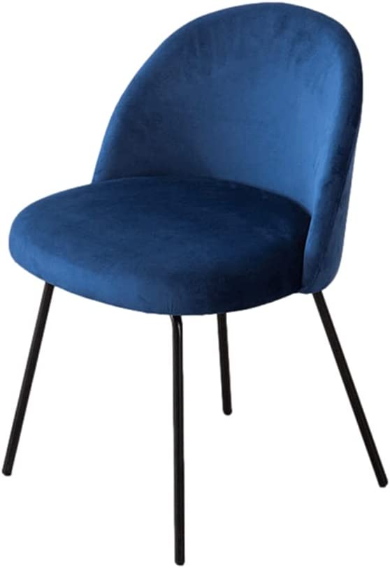 WRNM Genuine Dining Chair Velvet Nordic Back Spring new work Simple Home De Makeup