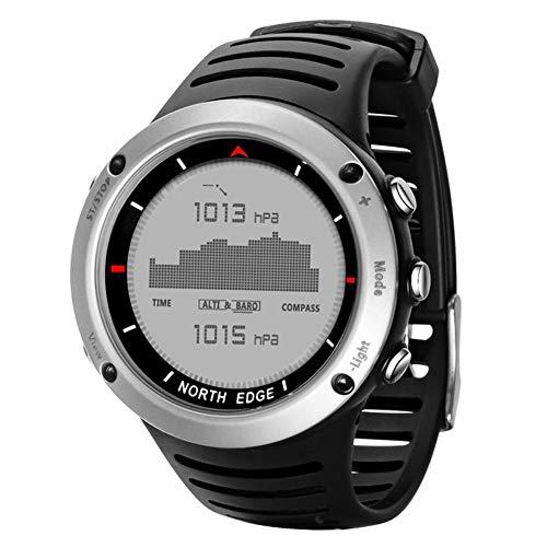 North Edge Herren Armbanduhr GPS Running Connectee Wasserdicht Sport, Digital Uhr Laufen, Schwimmen, Sport, Wasserdicht mit Chip, Höhenmesser, Barometer, Kompass Thermometer