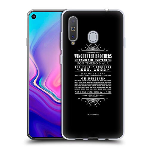 Head Hülle Designs Offizielle Supernatural Winchester Brothers Vektoren Soft Gel Huelle kompatibel mit Samsung Galaxy A8s (2018)