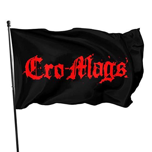 HGHGH Cro-Mags Gartenflagge Außenflagge Banner Fußfahne Farm Banner 3X5 Ft