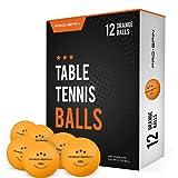 Pro Spin Pelotas de Ping Pong - Naranja - Pelotas 3* 40+ (Pack de 12) para...
