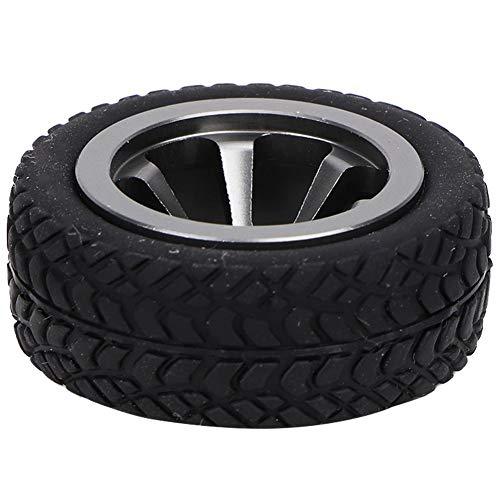 Neumáticos de Ruedas RC, Accesorios para Modelos de Automóviles Material de Neumáticos de Goma Compatible para WLtoys 1/28 RC K969 K989 K999 P929 4WD Short Pool Drift Off-Road Rally(Color titanio)