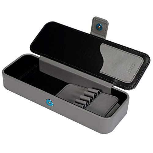 COBU 抗菌対策 本革製マグネット筆箱 C231(ペン差し取外し可能 消しゴム仕切り有 (ミステリアスグレー)