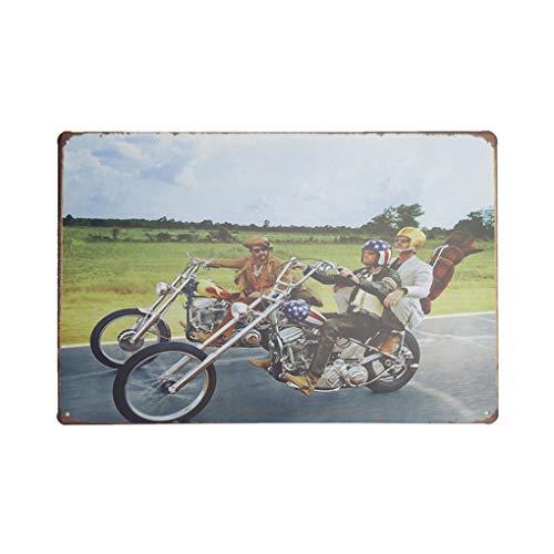 censhaorme Vintage Retro Diseños de la pared del hierro del coche Cartel de la motocicleta Inscripción decoraciones del dormitorio del hogar placa Sala de estar