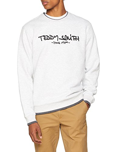 Teddy Smith SICLASS RC Sweat Homme, Blanc (White Mélange 267), X-Large
