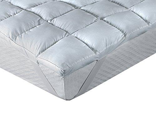 Classic Blanc - Surmatelas en fibre antiallergique, comfort Plus 8cm. 160x200 cm-Lit 160