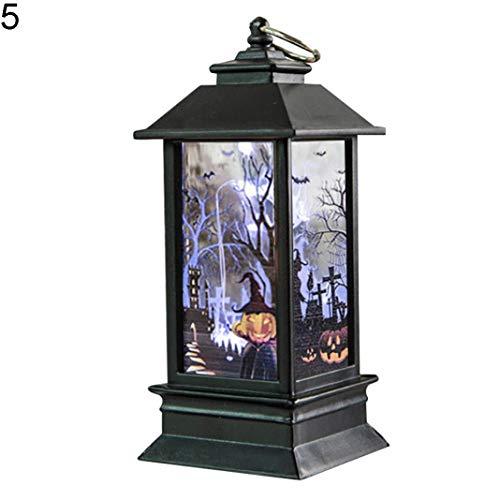 EDQZ Halloween LED Licht Desktop Dekor Lampe K¨¹rbis Skelett Hexe Geist Hand Kerze - 5