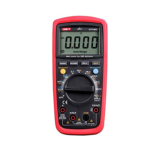 UT139 Series Digital-Multimeter, ABC Meter Handheld Tester 6000 Count Voltmeter Temperatur Tester Meter xuwuhz (Color : UT139C)