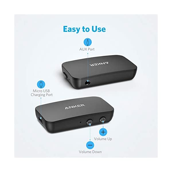 Bluetooth Receiver for Music Streaming with Bluetooth 5.0, 12-Hour Battery Life, Handsfree Calls, Dual Device Connection, for Car, Home Stereo, Headphones, Speakers 6