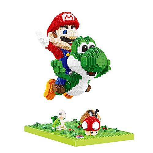 SKAJOWID Bausteine Spielzeug, 3D-Puppe Reiten EIN Dinosaurier Modell Super Fliegen Abbildung Diamant-Bricks, Jungen-Mädchen Erwachsene, Kindergeburtstagsgeschenke (3300Pcs)