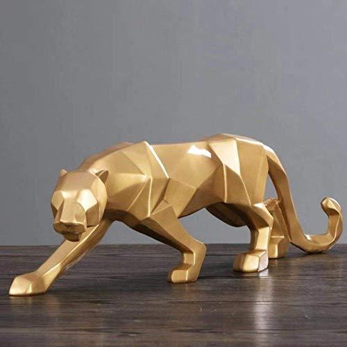 Escultura de escritorio escultura de pared animal, tigre accesorios artesanales película de hierro Hogar de puño área de protección estatua geometría decorativa Origami regalo escultura de pared abstr