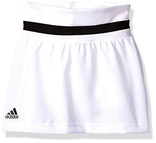 adidas Youth Girls Tennis Club Skirt, White, X-Small