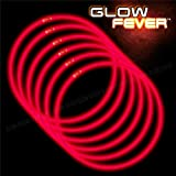 Glow Sticks Bulk 100ct 22'' Glow Necklaces with Connectors, for Party Festivals Raves Birthday Wedding, Red