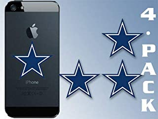 MAGNET 4-PACK 1.5x1.5 Inch Small Blue Star Stickers -dallas cowboy cell logo laptop dak Magnetic vinyl bumper sticker sticks to any metal fridge, car, signs
