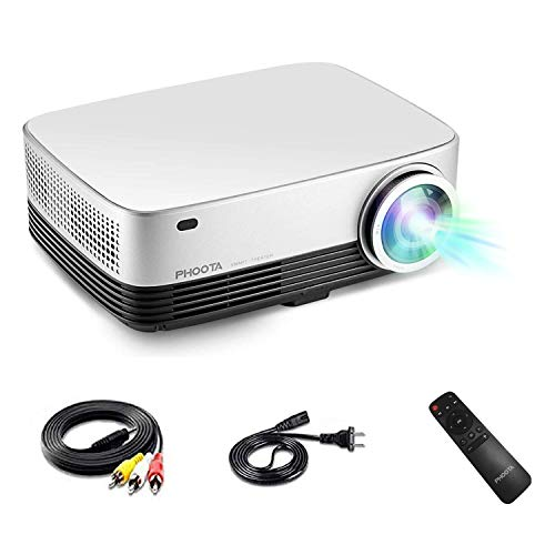 3D Home Theater Projector, PHOOTA 2019 Upgraded 4500 Lumens LCD/LED Contrast Ratio 5000:1, Full 1080P and 200'' Large Display Cinematic Projector, Compatible with TV, USB, HDMI, HiFi Stereo