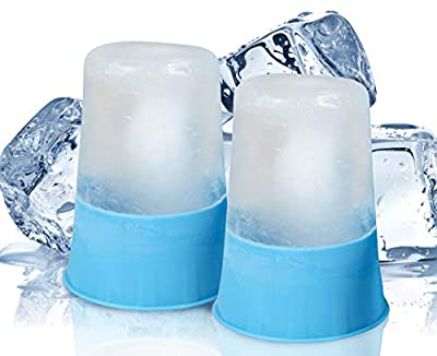 Arctic Flex Ice Cup - Cold Therapy Massage Tool - Small, Reusable and Freezable - for Men, Women, Pain, Inflammation, Sprains, Strains - for Muscle Spasms, Weakness and Stiffness (Two Pack)