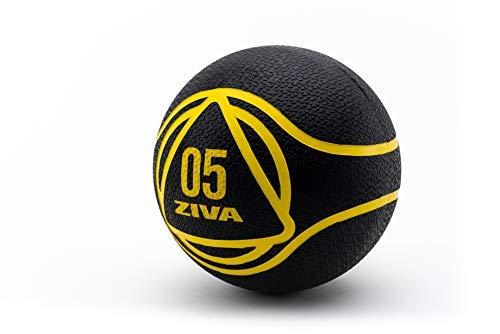 ZIVA Essentials Balon Medicinal, Adultos Unisex, Negro/Amarillo, 5 Kg