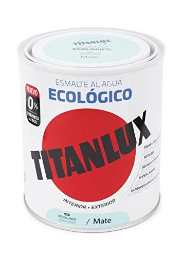Ecologico smalto Mate Acqua Titanlux - 750 ml, 515 verde menta