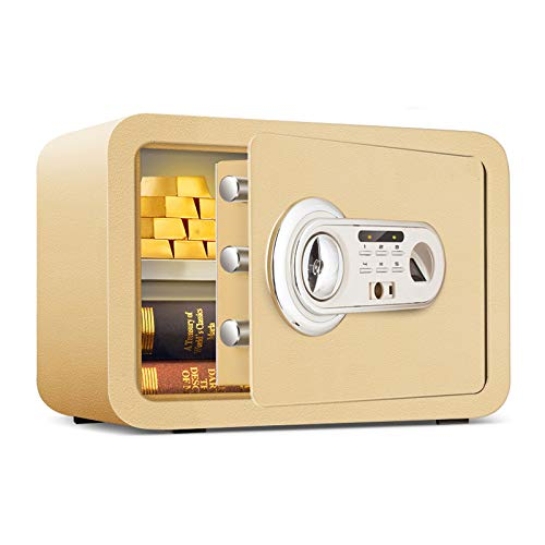 Caja Fuerte Con Lector Biométrico De Huella Dactilar Digital Safe Electronic Mini Caja Fuerte De Pared Para Proteger Los Objetos De Valor