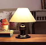 VRCT Khadi Shade and Beautiful - Lámpara de mesa para dormitorio y sala de dibujo, color negro, paquete de 1