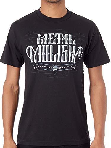 Metal Mulisha Schwarz Gauntlet T-Shirt (Large, Schwarz)