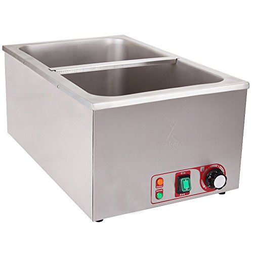 Beeketal 'BBMoA' Gastronorm Bain Marie Profi Gastro Speisewärmer passend für (GN) 1/1 Gastronorm Behälter, Wasserbad Temperatur einstellbar von 35-65 °C