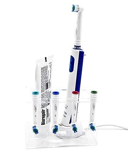 D3D Soporte para cabezales de cepillo de dientes eléctrico, soporte para 4...