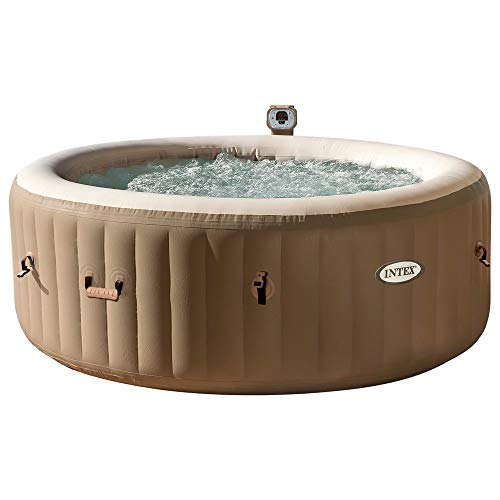 Intex 28404 Pure Spa Bubble Therapy con Pompa, 795 litri, Riscaldatore e Sistema Purificazione Acqua, 196x71 cm, 4 Posti, Beige 2018