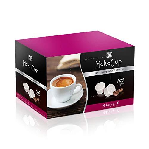 100Cápsulas Pop Café Moka Cup mezcla 1Intenso COMPATIBLES Domo