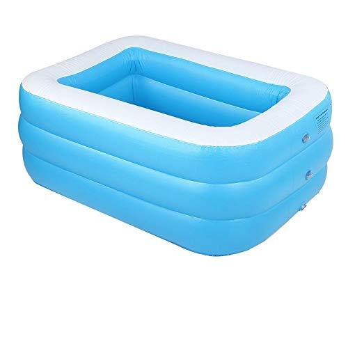 BYARSS Kinder aufblasbarer Pool Hohe qualität Kinder 's Home benutzung Paddling Pool großes quadratisch Schwimmbad badewanne (blau)