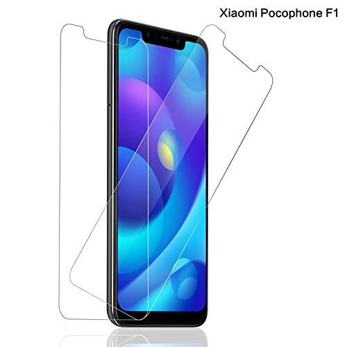 Schutzfolie für Xiaomi Pocophone F1 Panzerglas [2 Stück], 9H Festigkeit Panzerglasfolie für Xiaomi Pocophone F1, Anti-Kratzen Screen Protector, Ultra Klar, Bläschenfrei, Pocophone F1 Bildschirmschutzfolie