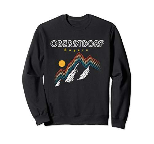 Oberstdorf Bayern - Deutschland Retro 80s Skiferien Geschenk Sweatshirt