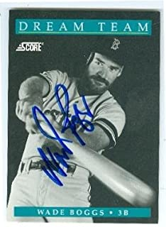 Autograph 157026 Boston Red Sox 1991 Score No. 889 Dream Team Wade Boggs Autographed Baseball Card
